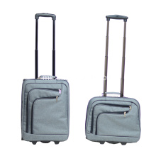 Perniagaan 2 Piece Carry on Set Luggage Trolley